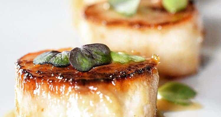 Miso Marinated Vegan Scallops