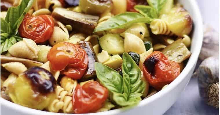 Vegan Pasta Recipe: Roasted Vegetables & Chickpea Pasta