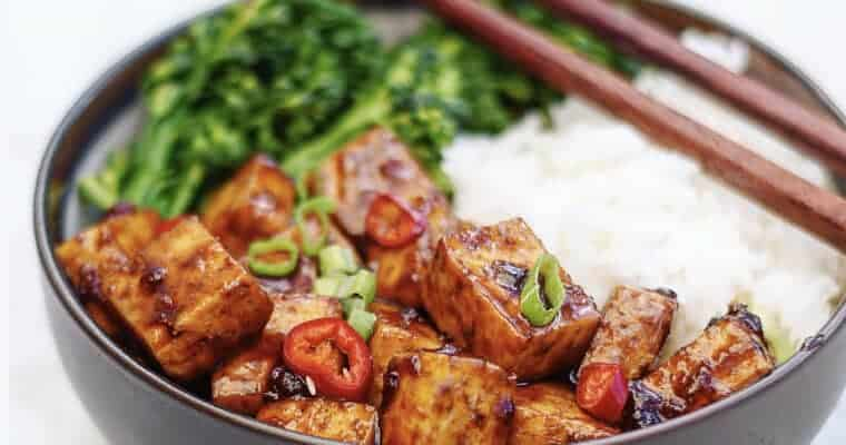 Vegan Chinese Food: Asian BBQ Tofu Bowl