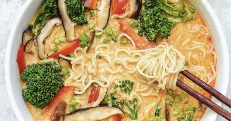 Thai Red Curry Ramen Noodle Bowls