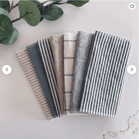 Linen Unpaper Towel, 2ply Paperless Towel, Reusable Paper Towel, Eco-Friendly Cleaning, Cotton Cloth Paper Towels, Paper Replacement