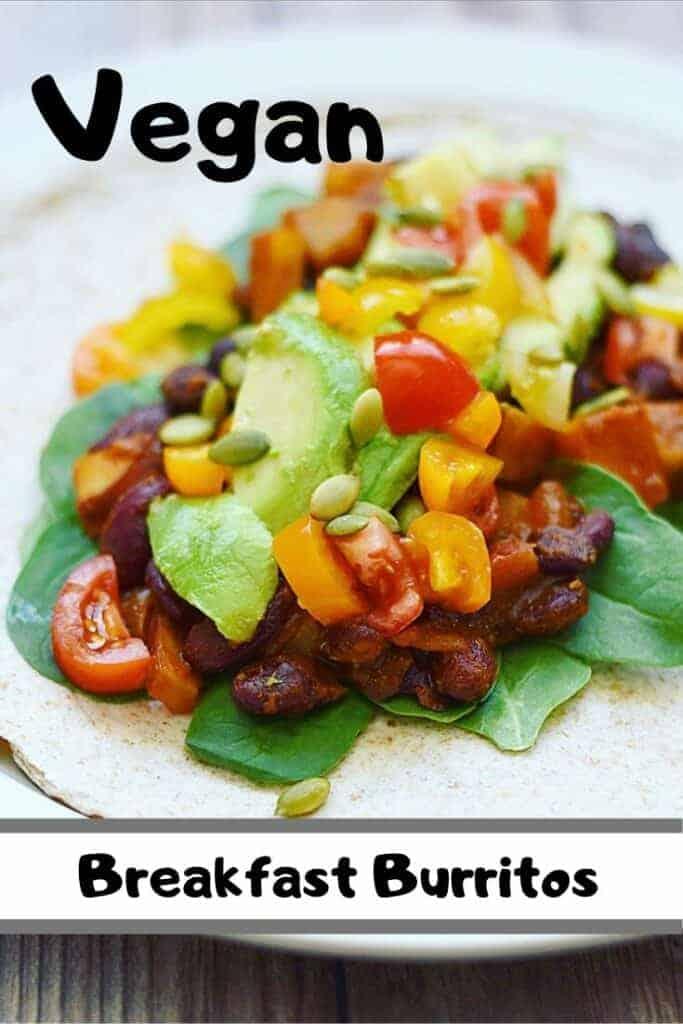 Sweet Potato and Kidney Bean Vegan Breakfast Burritos