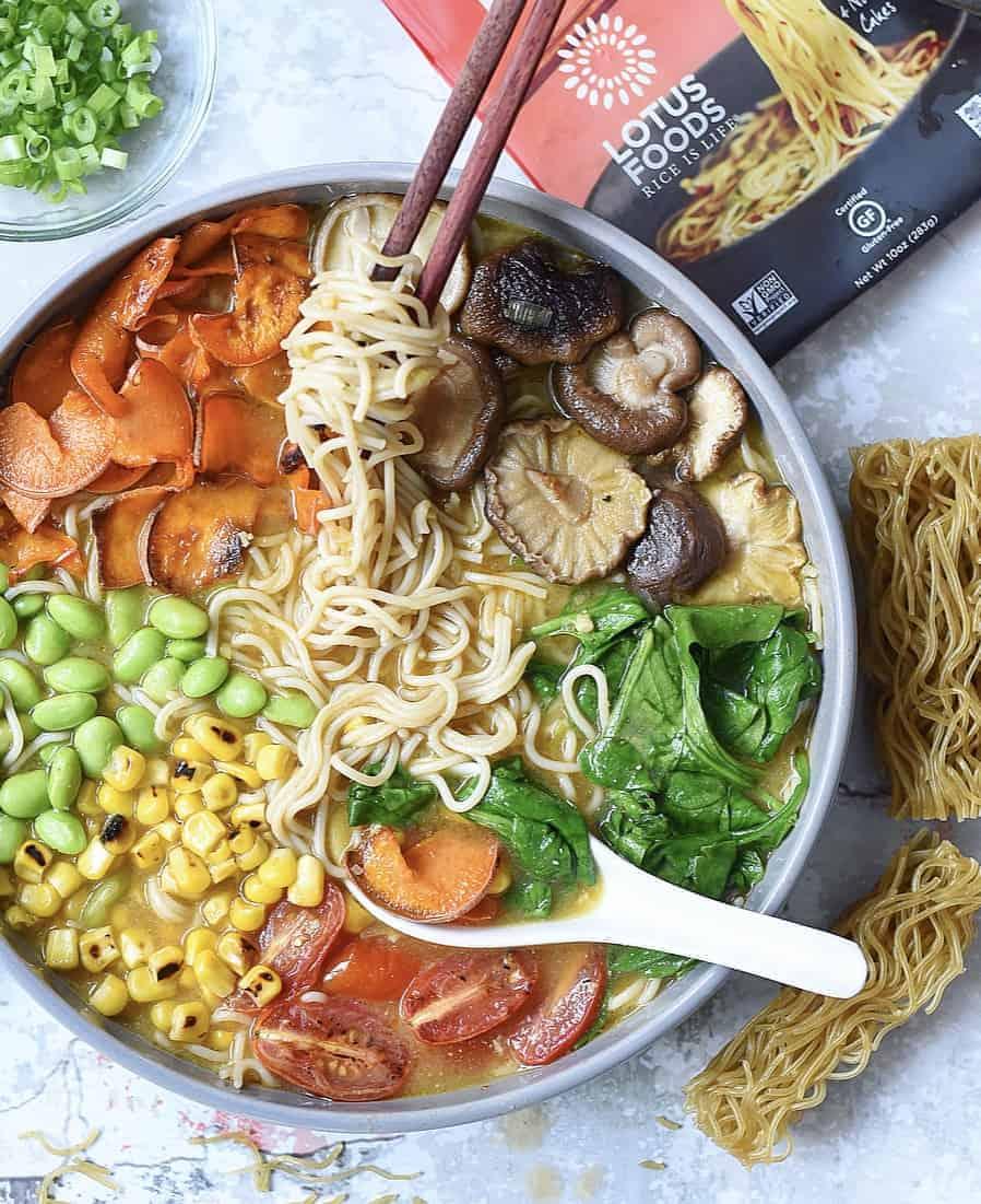 Veggie-Loaded Easy Vegan Ramen Soup