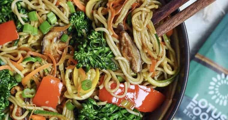 Easy Vegetable Lo Mein Recipe