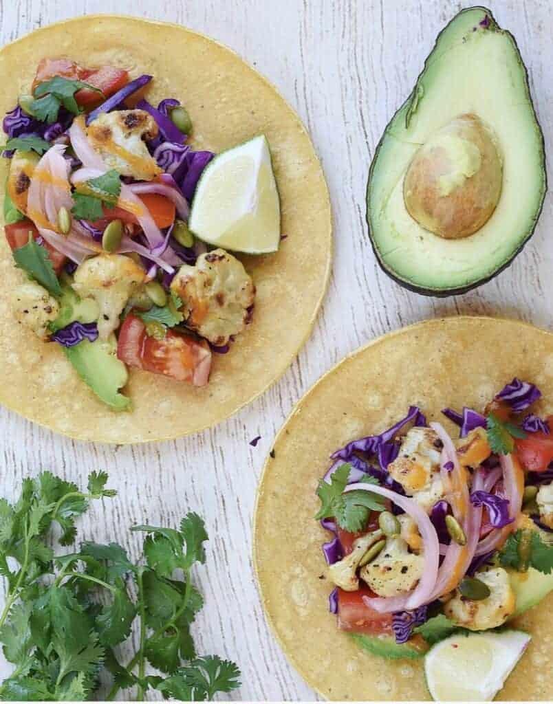 Crispy Cauliflower Vegan Tacos