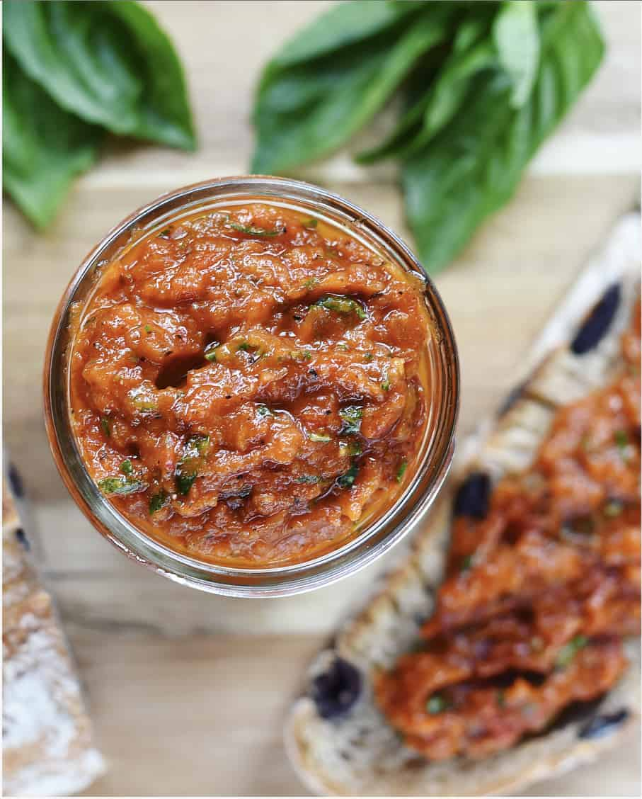 Roasted Tomato Compote with Fresh Basil