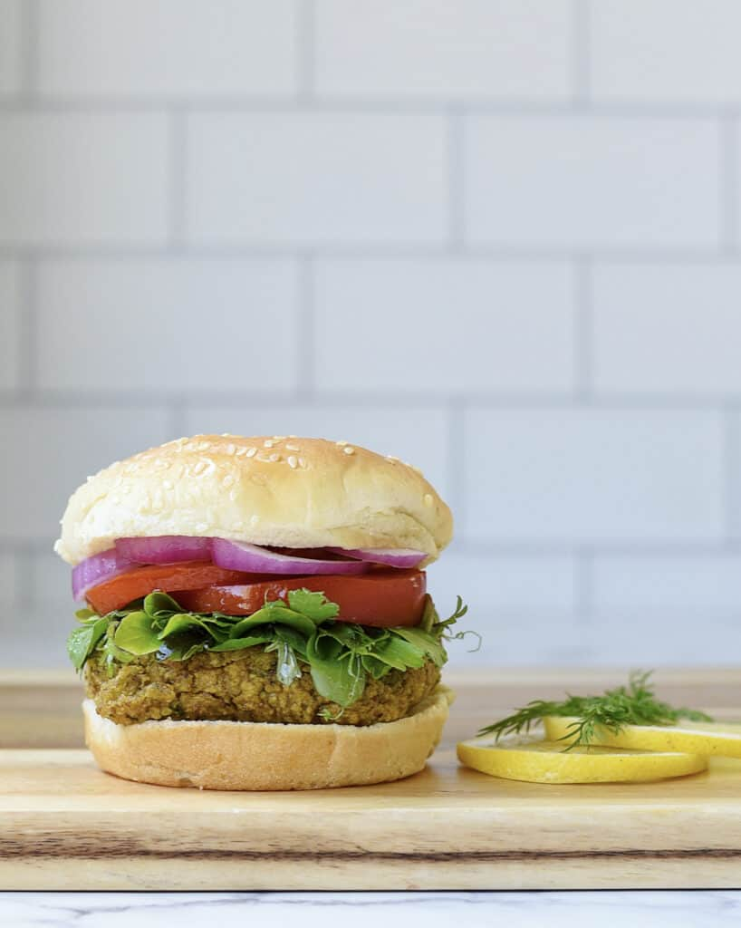 Baked Falafel Burgers Recipe