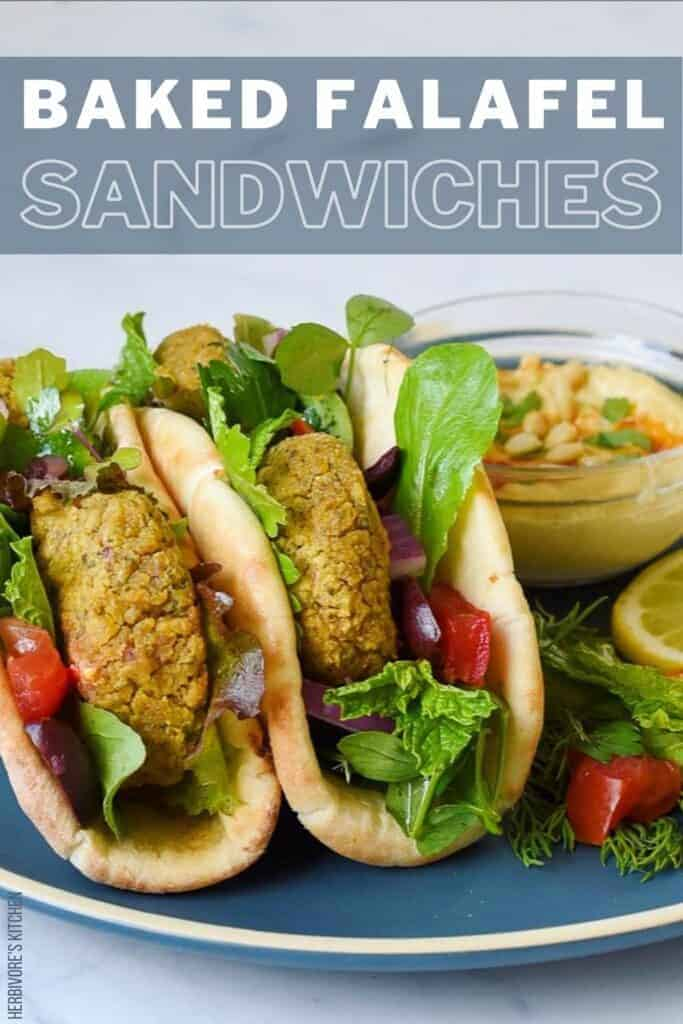 Vegan Baked Falafel Sandwiches
