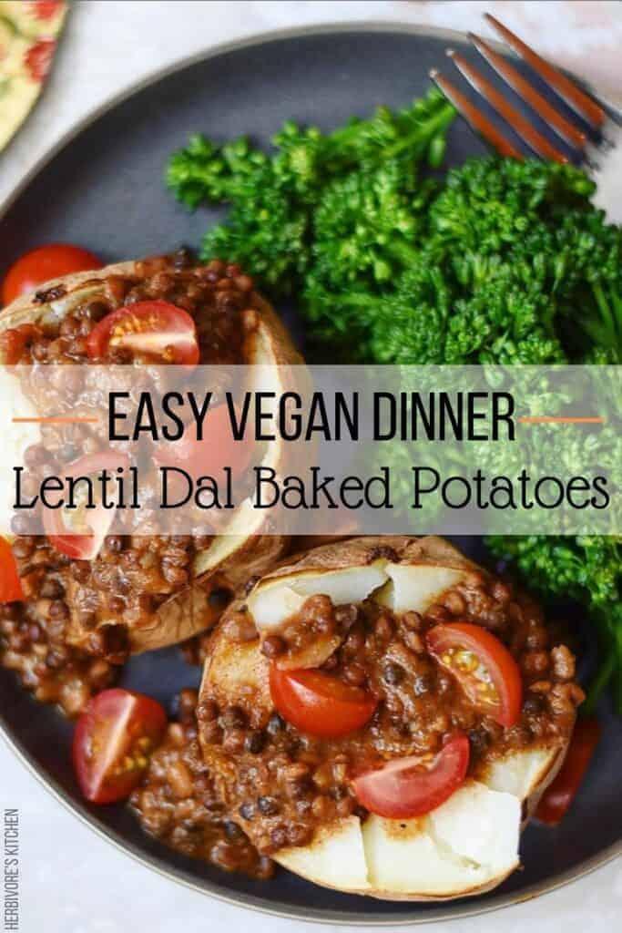 Lentil Veggie Burger Recipe with Baked Sweet Potato Fries