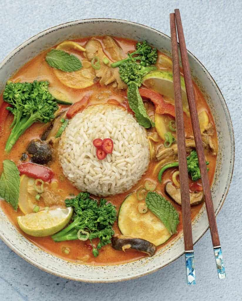Thai Red Curry Vegetables & Rice