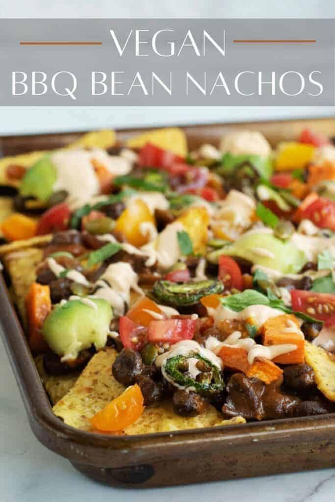 BBQ Black Beans Vegan Nachos