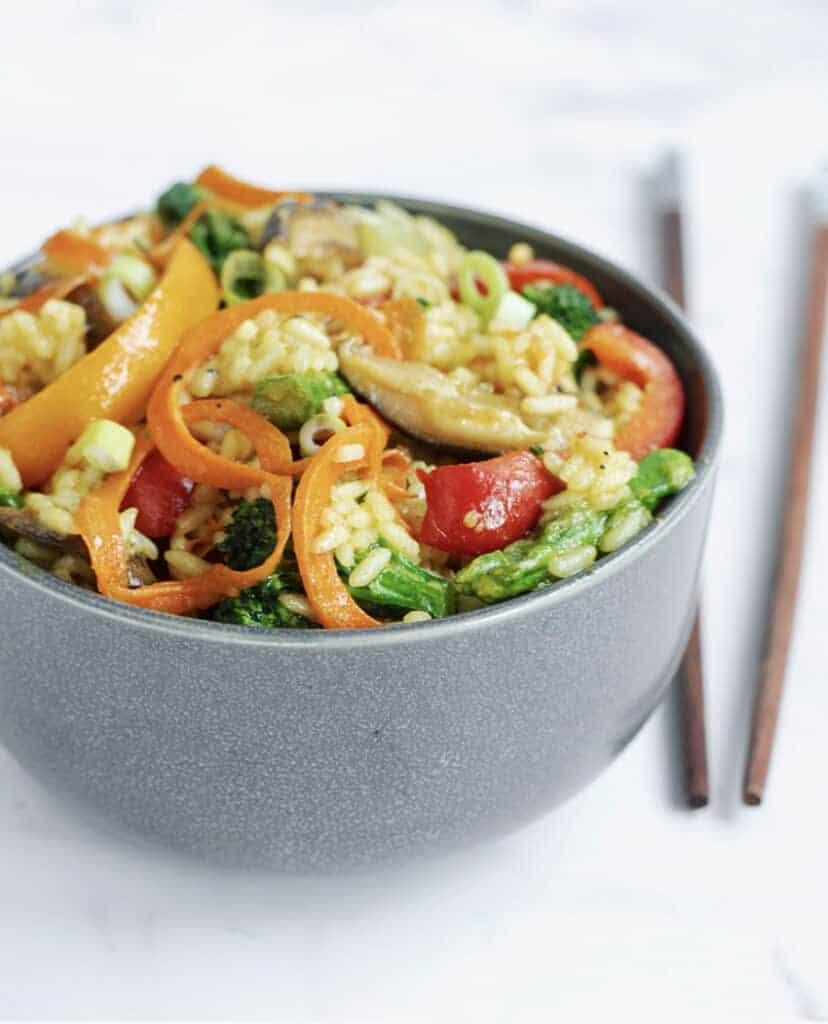 Veggie Loaded Curry Fried Rice Recipe