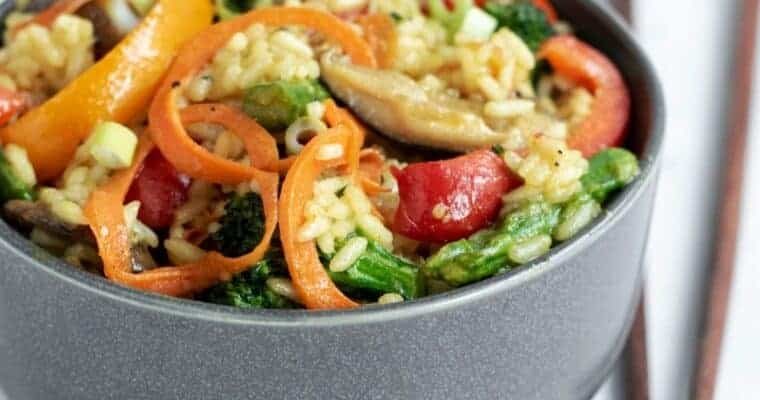 Veggie-Loaded Curry Fried Rice