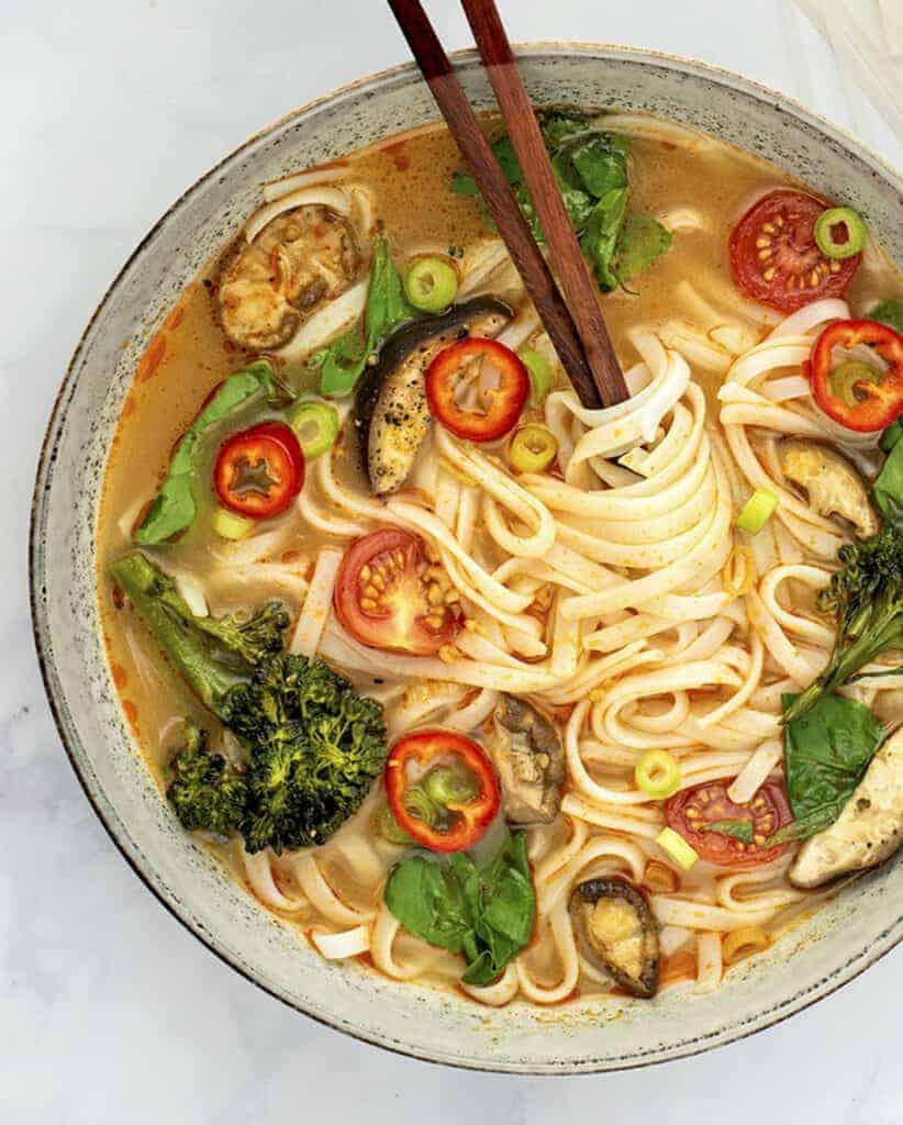 Thai Red Curry Lemongrass Soup Recipe