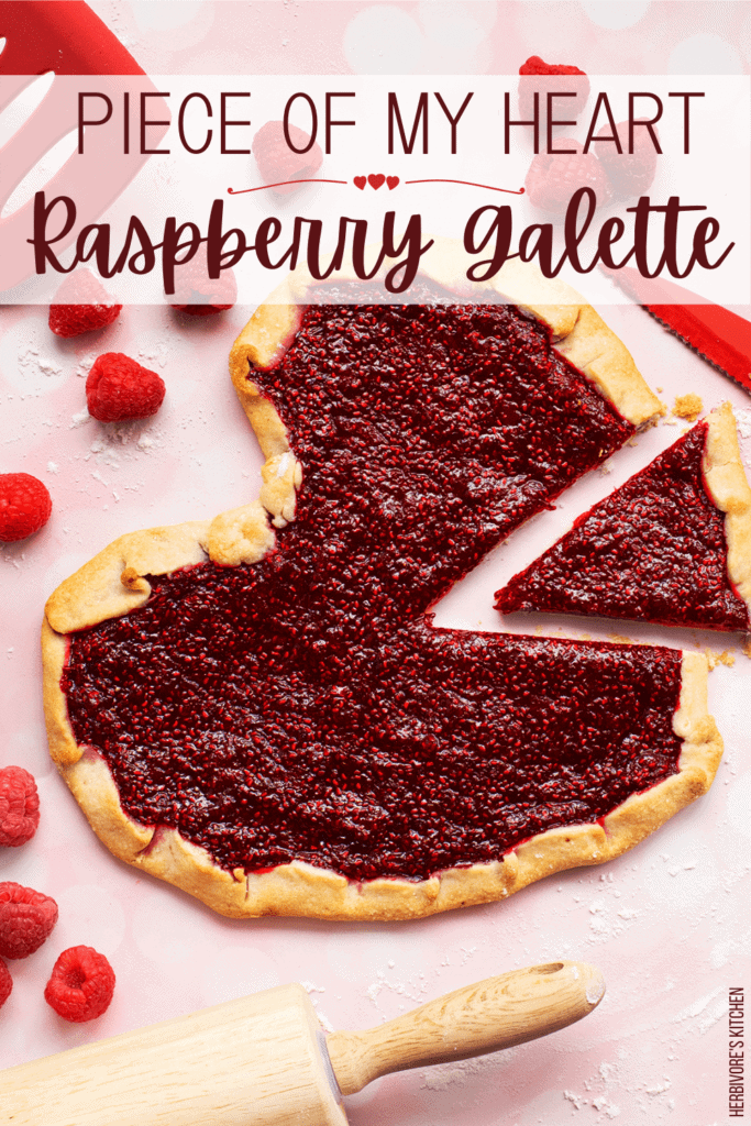 Raspberry Galette Raspberry: Celebrate Valentine's Day with this Heart-Shaped Vegan Fruit Galette