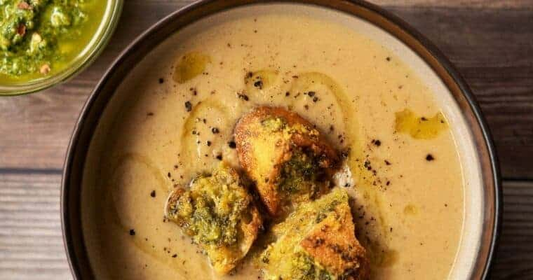 Roasted Cauliflower and White Bean Soup