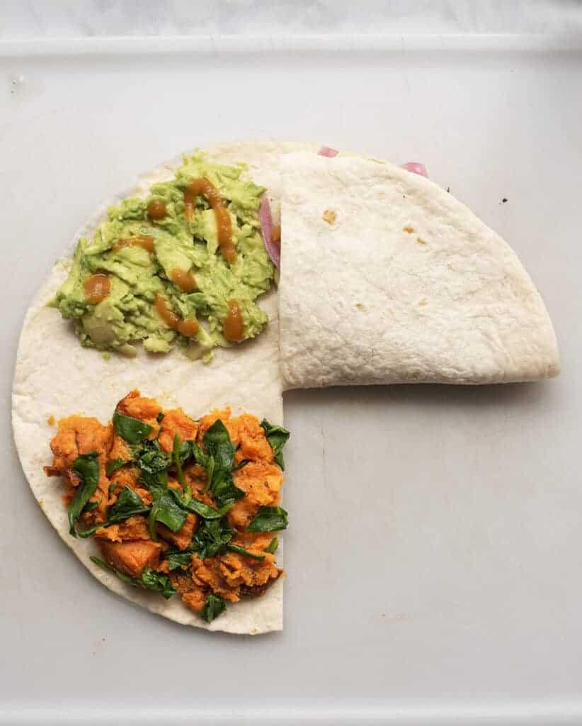 Vegan Crunchwrap Supreme, Trifold Tortilla or Tortilla Hack: Whatever You Call It, It's One of My Favorite Vegan Red Lentil Recipes!