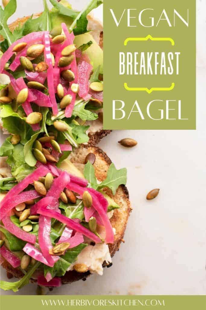 Vegan Bagel Sandwich: Start Your Morning with a Vegan Breakfast Bagel with White Bean Mash