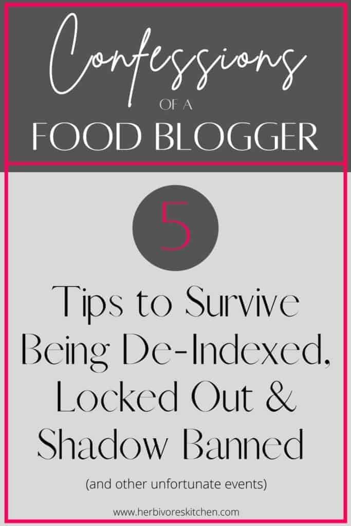 5 Tips to Survive Being De-Indexed Locked Out & Shadow Banned