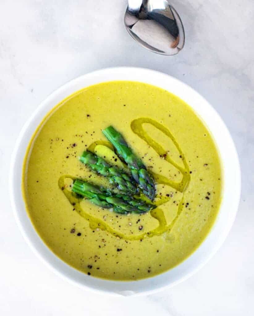 Asparagus White Bean Soup: This Vegan Asparagus Soup Recipe is Both Easy and Healthy!