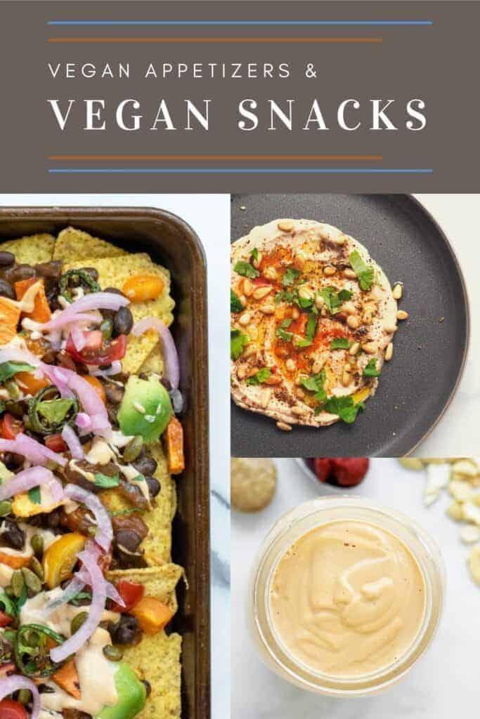 Vegan Recipes by Mealtime Vegan Snacks and Vegan Appetizers