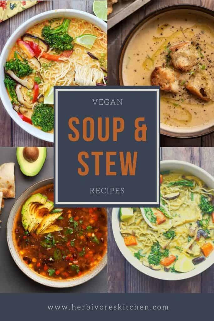 Vegan Recipes by Mealtime Vegan Soup & Stew Recipes