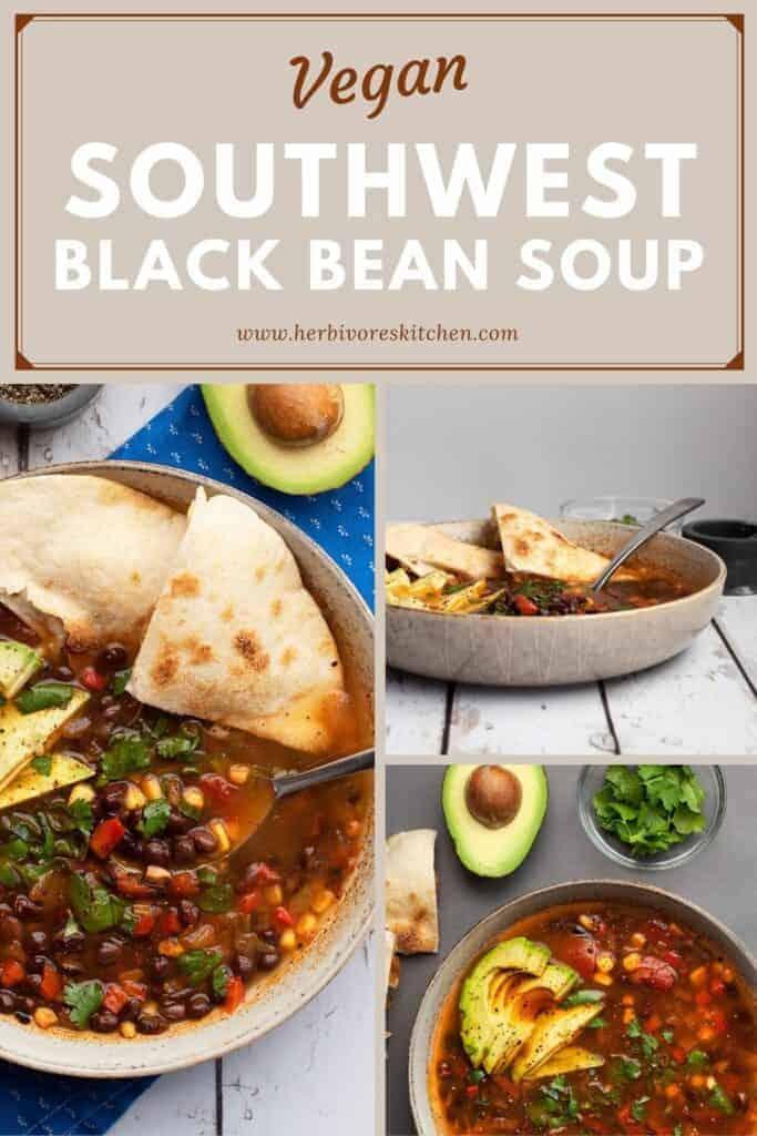 Southwestern Black Bean Soup Recipe