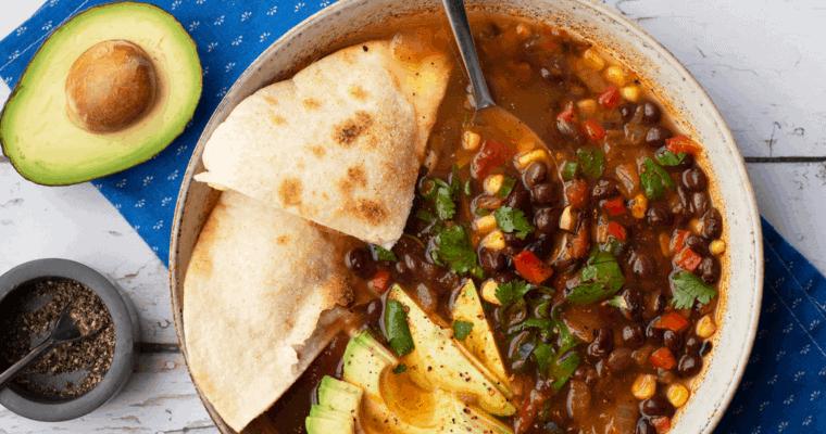 Southwest Black Bean Soup Recipe