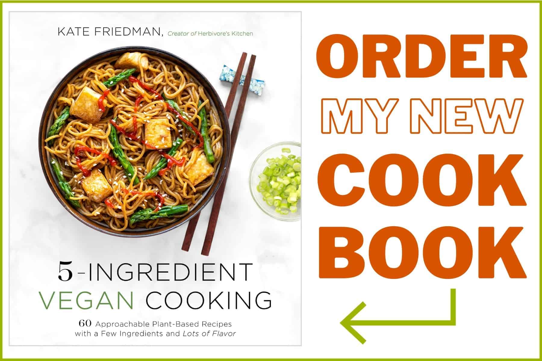 Order 5-Ingredient Vegan Cooking Cookbook