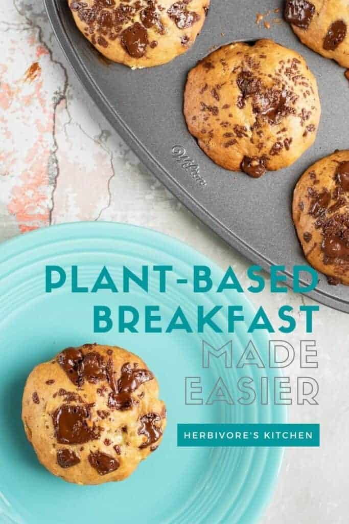 Vegan Banana Chocolate Chip Muffins When It Comes to Vegan Muffins, These Plant-Based Banana Muffins Are the Best!