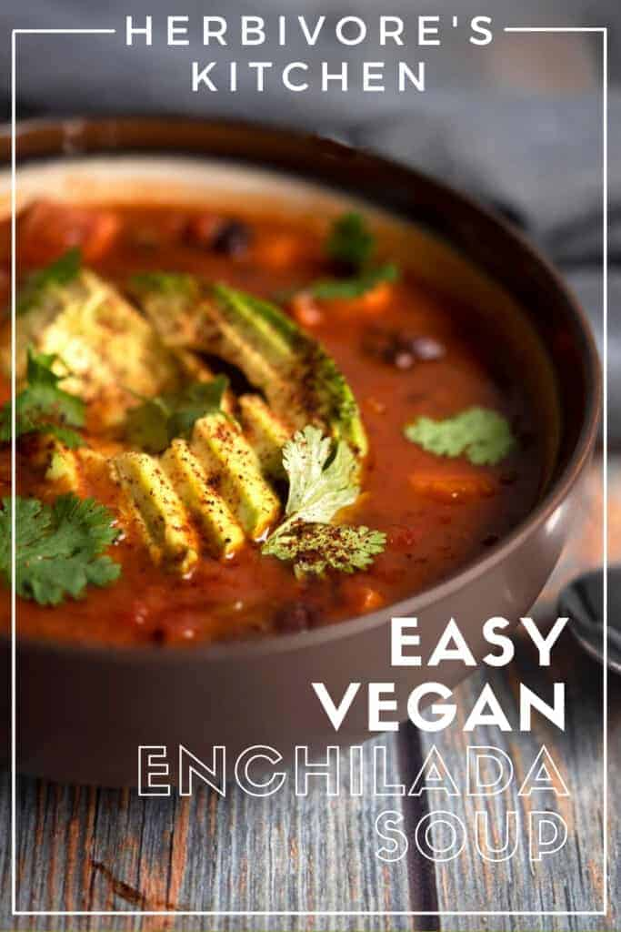 Vegan Enchilada Soup Recipe