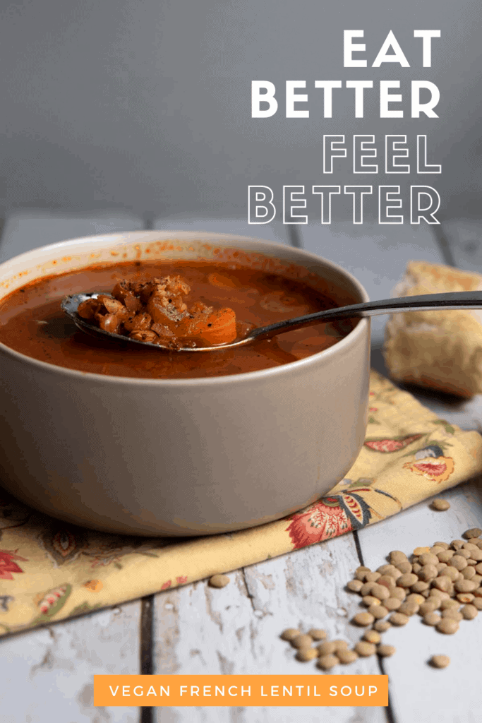 Easy Vegan French Lentil Soup Recipe