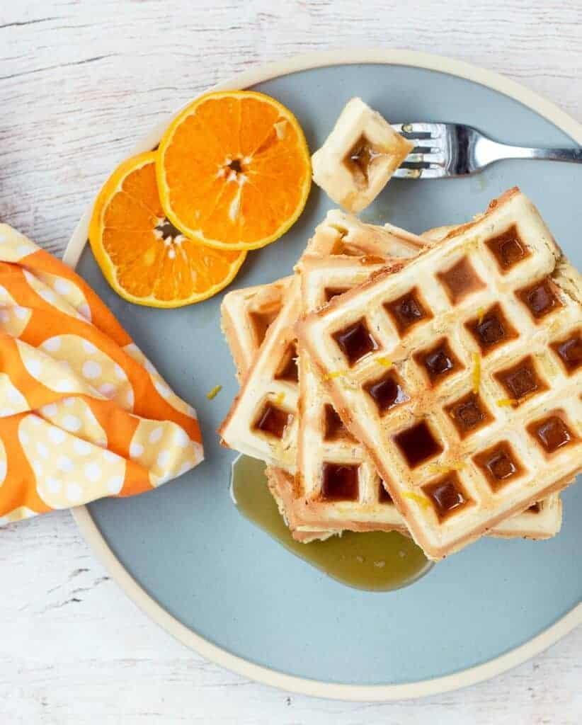 Vegan Brunch Ideas: Orange Scented Waffles