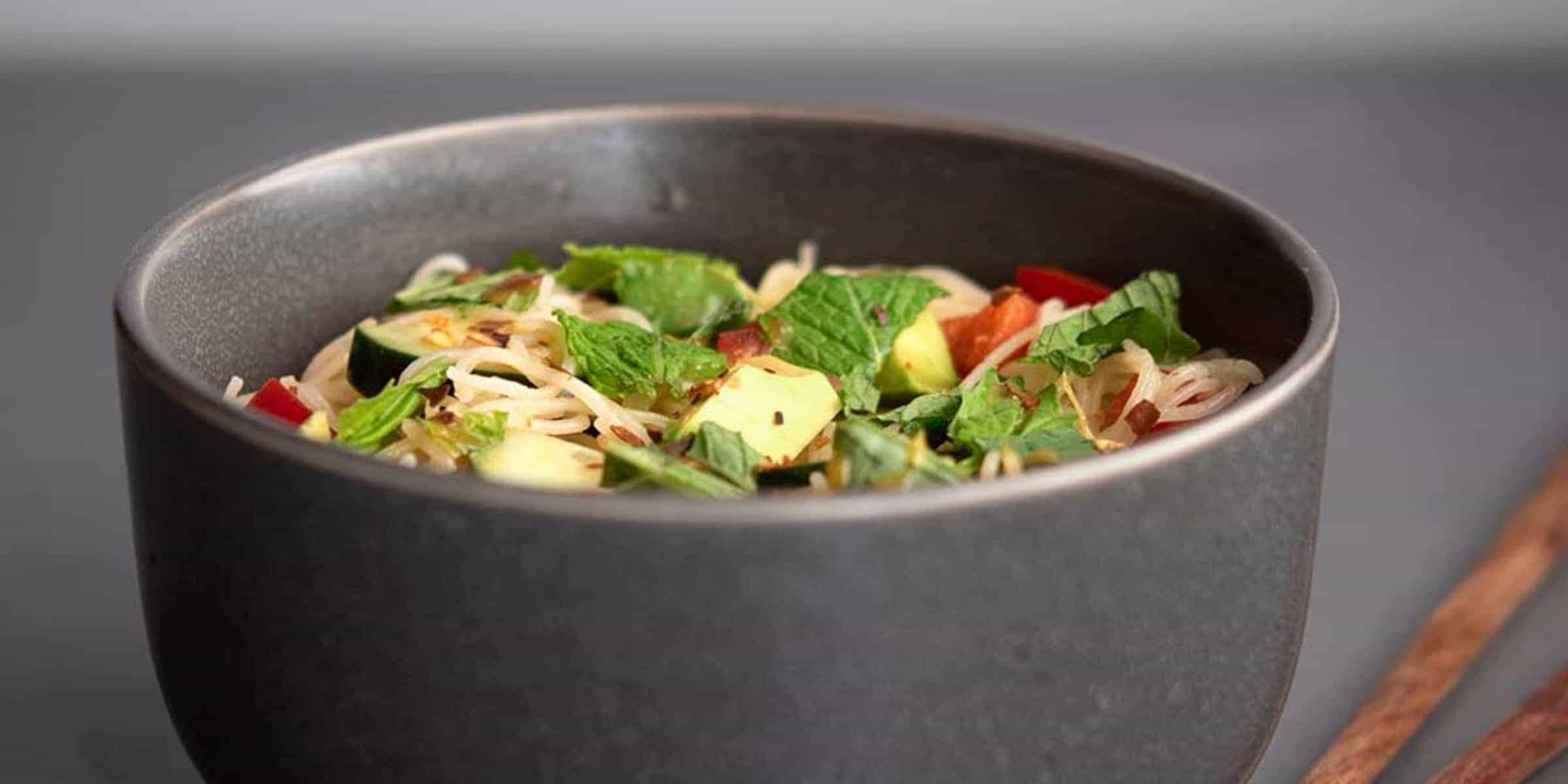 Vegan Thai Noodle Salad with Sweet Chili Vinaigrette