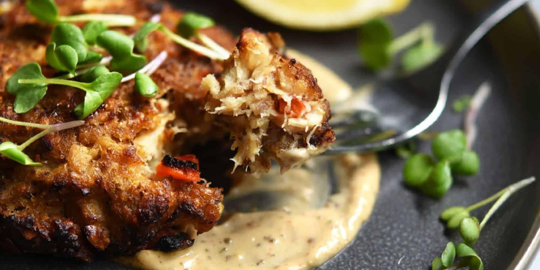 Vegan Crab Cakes with Vegan Remoulade Sauce
