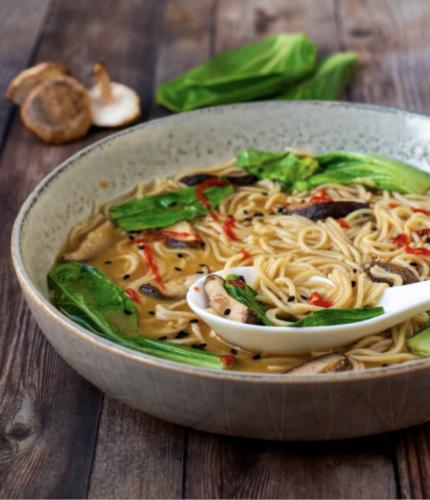 30-Minute Shiitake & Bok Choy Ramen Noodle Bowls